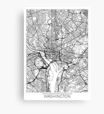 Washington Map Minimal Canvas Print