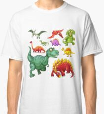 Assorted Illustrated Dinosaurs Classic T-Shirt