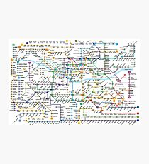 Seoul Metropolitan Subway Map Photographic Print