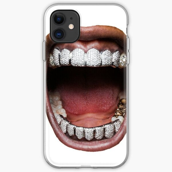 ASAP Rocky Black and White Portrait Showing Teeth coque pour iPhone 4 4S