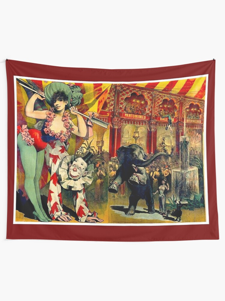 Circus Wall Hangings Tapesty Vintage Art Print Poster