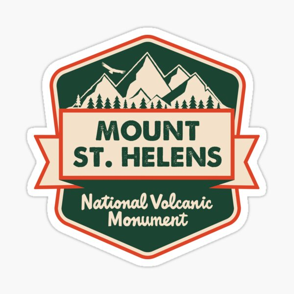 Mount St. Helens National Volcanic Monument Sticker