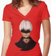 9S/ Nines (Sepia) Women's Fitted V-Neck T-Shirt