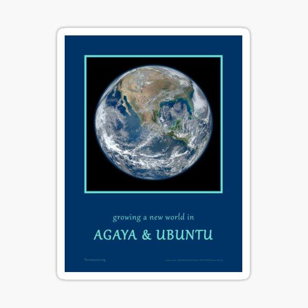 Agaya & Ubuntu Blue Marble Sticker