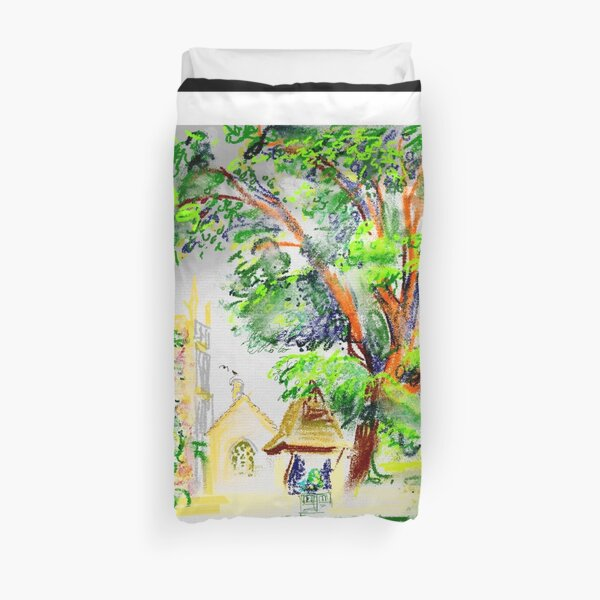 Crudwell church in North Wiltshire Duvet Cover