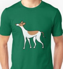 Proud Greyhound - brown and white Unisex T-Shirt