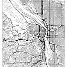 Portland Map Minimal by HubertRoguski