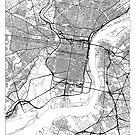Philadelphia Map Minimal by HubertRoguski
