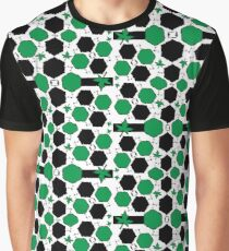 Green Black Graphic T-Shirt