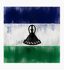 Lesotho Flag Reworked No. 1, Series 2 Photographic Print