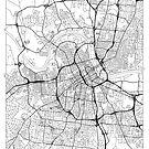 Nashville Map Minimal by HubertRoguski
