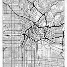 Los Angeles Map Minimal by HubertRoguski
