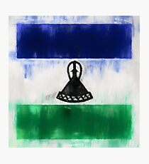 Lesotho Flag Reworked No. 2, Series 1 Photographic Print