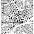 Detroit Map Minimal by HubertRoguski