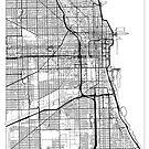 Chicago Map Minimal by HubertRoguski