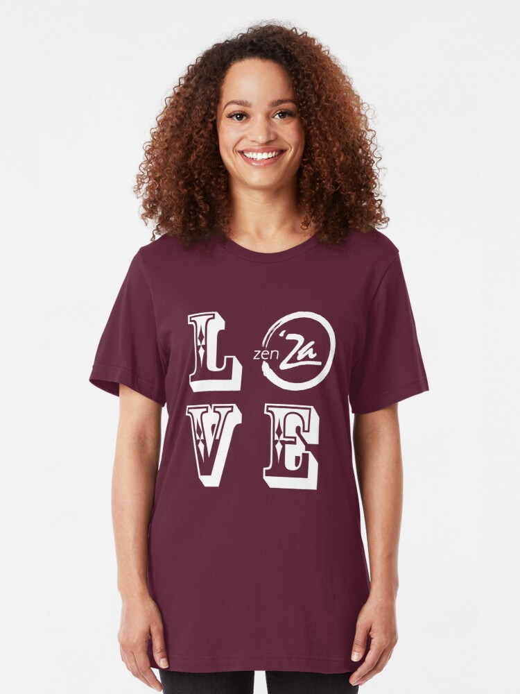 Alternate view of Love 'Za - Rosewood Slim Fit T-Shirt