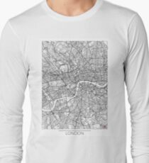 London Map Minimal Long Sleeve T-Shirt