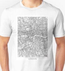 London Map Minimal Unisex T-Shirt