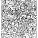 London Map Minimal by HubertRoguski