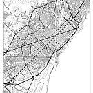 Barcelona Map Minimal by HubertRoguski