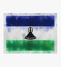 Lesotho Flag Reworked No. 66, Series 1 Photographic Print
