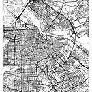Amsterdam Map Minimal by HubertRoguski