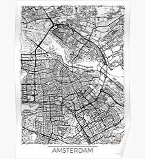 Amsterdam Map Minimal Poster