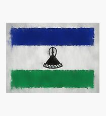 Lesotho Flag Reworked No. 66, Series 3 Photographic Print