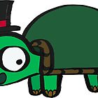 Tim the Tiny Turtle in a Top Hat by JMendezArt
