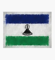 Lesotho Flag Reworked No. 66, Series 4 Photographic Print