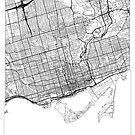 Toronto Map Minimal by HubertRoguski