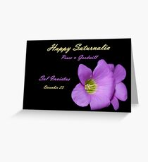 Happy Saturnalia Greeting Card