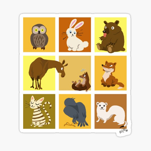 Animal blocks Sticker