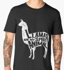 Llamas Are My Spirit Animal  Men's Premium T-Shirt