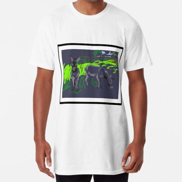 Two rescue donkeys Long T-Shirt