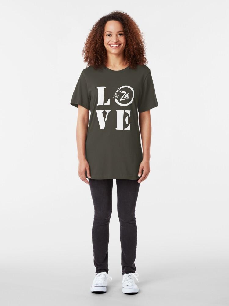Alternate view of Love 'Za - Stencil Slim Fit T-Shirt