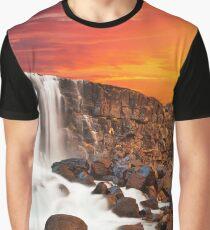 Glowing Axe Falls Graphic T-Shirt