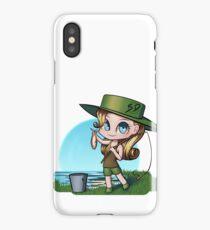 Anime chibi fishing iPhone Case/Skin
