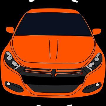 Dodge Dart Header Orange Front End by Jessimk