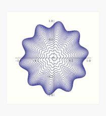 Plot x=(1-exp(-t/10))*(1+sin(20*pi*t)/10)*cos(2*pi*t), y=(1-exp(-t/10))*(1+sin(20*pi*t)/10)*sin(2*pi*t), for t=0 to 25, #Math, #Mathematics, #formula Art Print
