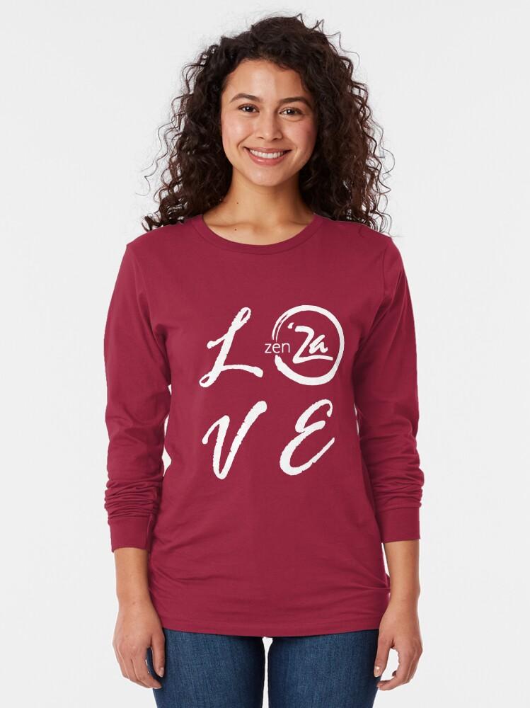 Alternate view of Love 'Za - Italic Long Sleeve T-Shirt