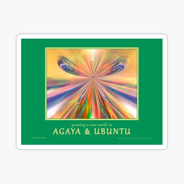 Novasutras Agaya & Ubuntu 'Metamorphia' Sticker