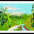 Devonshire lane in high summer by Helen Imogen Field