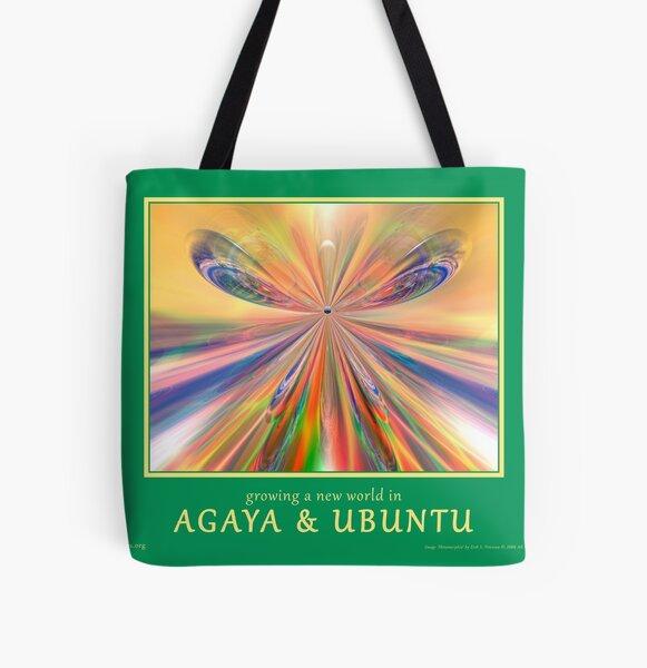 Novasutras Agaya & Ubuntu 'Metamorphia' All Over Print Tote Bag