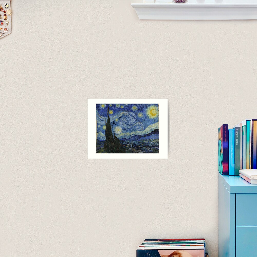 Starry Night Oil painting by Vincent van Gogh Art Print