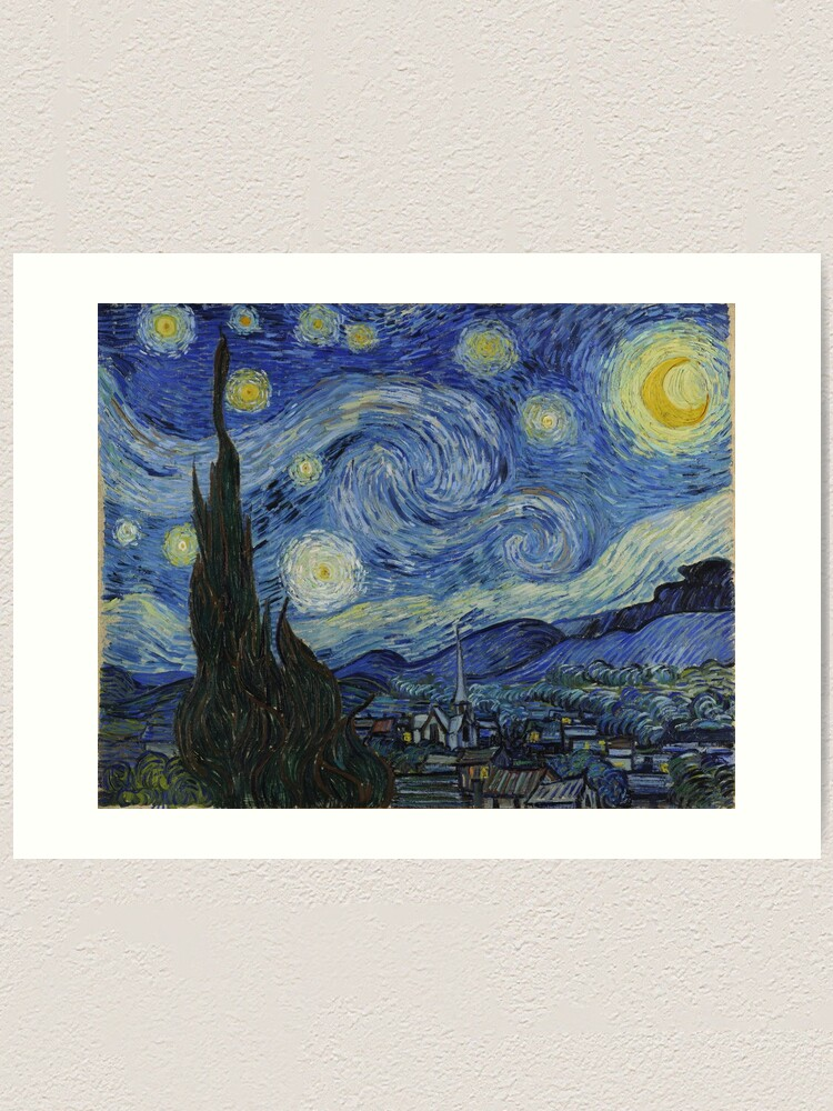 Alternate view of Starry Night Oil painting by Vincent van Gogh Art Print