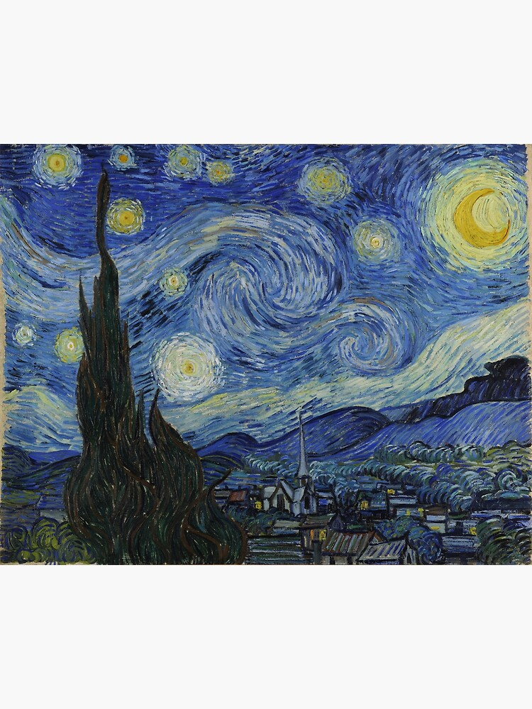 Starry Night Oil painting by Vincent van Gogh by podartist