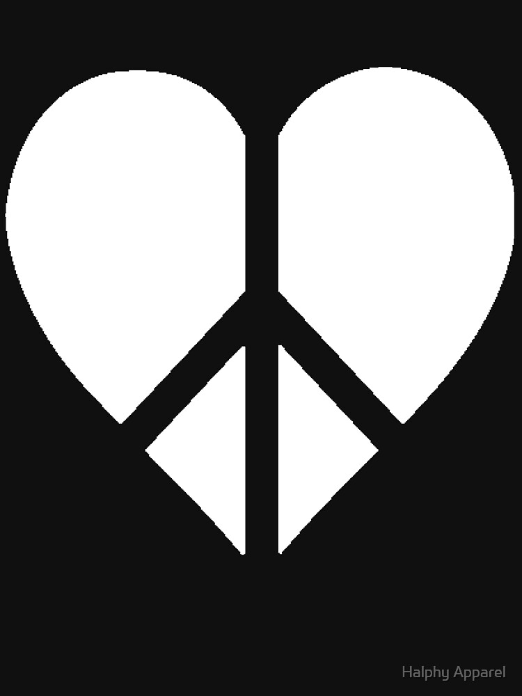 Peace And Love Heart Symbol Classic T Shirt By Plante0102 Redbubble