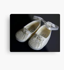 The Christening Shoes Metal Print