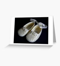 The Christening Shoes Greeting Card